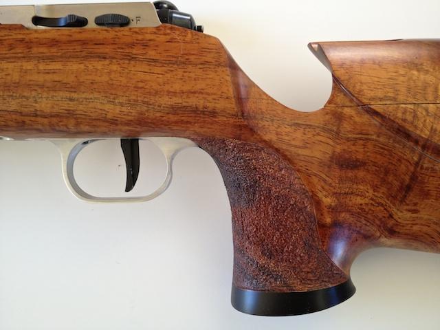 Koa Smallbore Rifle w 2000 Anschutz Action IMG_3859