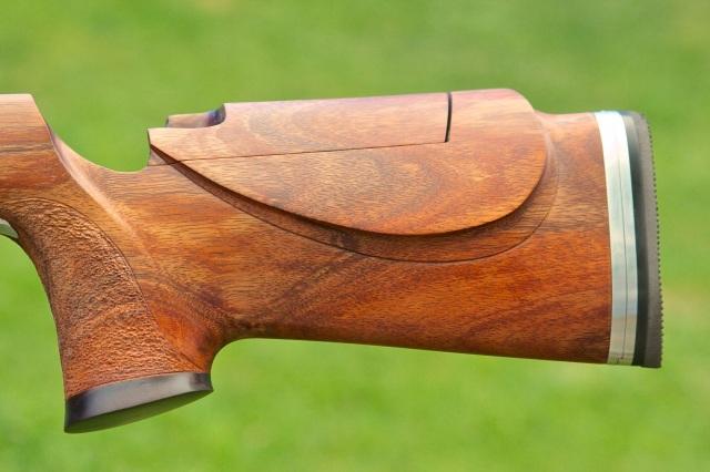 Koa Long Range Rifle Stock with Barnard Action Complete : Doan Trevor Custom Rifle Building